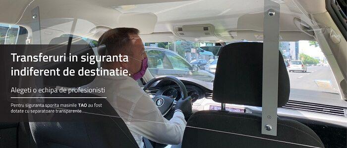 Transfer Aeroport Otopeni in siguranta cu masini premium si dotate cu separatoare transparente.